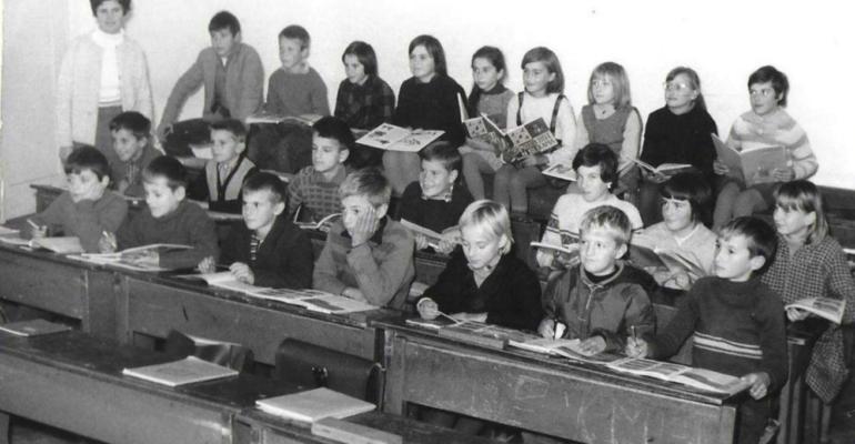brela, osnovna škola brela, 1962